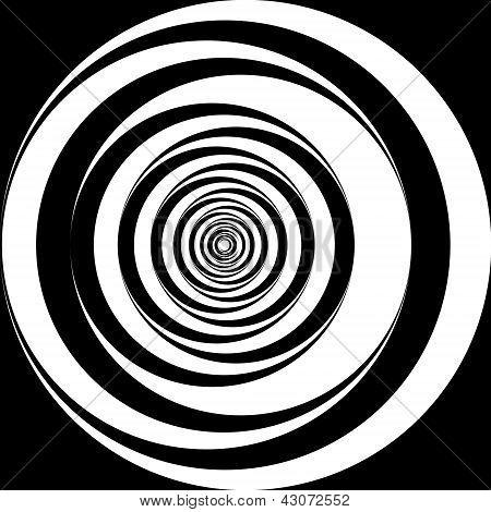 Schwarz-weiß Spirale Hintergrund
