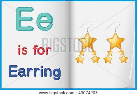 Alphabet worksheet for the letter E