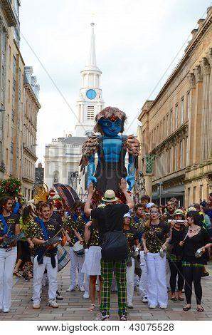 Big Man Walking, Merchant City Festival, Glasgow
