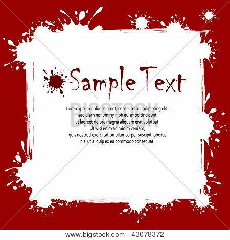 Texto sobre fondo Inkblots
