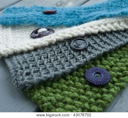Neck warmers and Vintage Buttons