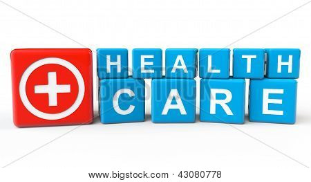 Cubes With Health Care Sign
