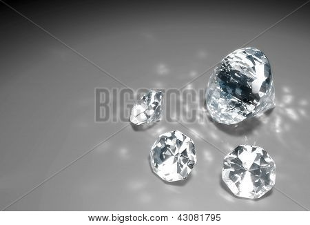 Four Diamonds On The Floor