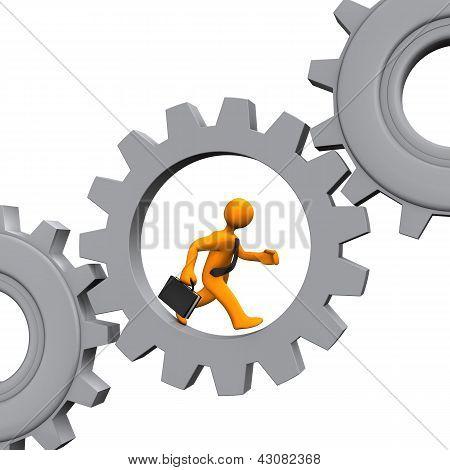 Employee Grey Gears
