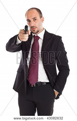 Armed Businessman