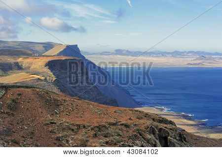 Coast Risco De Famara,  Lanzarote, Canary Islands, Spain