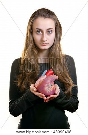 Young Woman With A Heart I