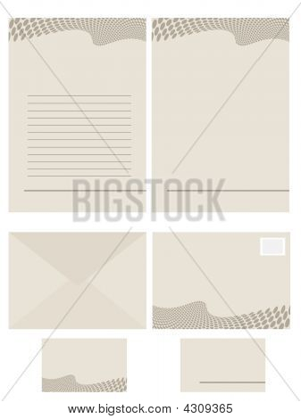 Serie de documentos de la papelería para uso de oficina