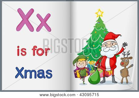 Hoja de trabajo de alfabeto para la letra X