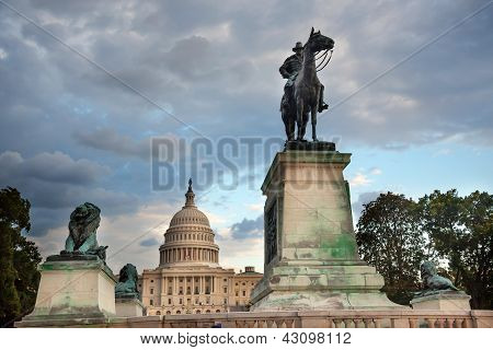 Us Grant Statue Memorial Capitol Hill Washington Dc