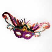 picture of carnivale  - Colorful Mardi Gras mask - JPG