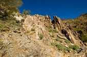 foto of piestewa  - Rock Formation Looking up on Piestewa  - JPG