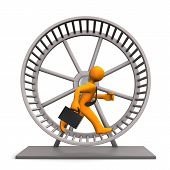 picture of hamster  - Businessman in the hamster running wheel - JPG