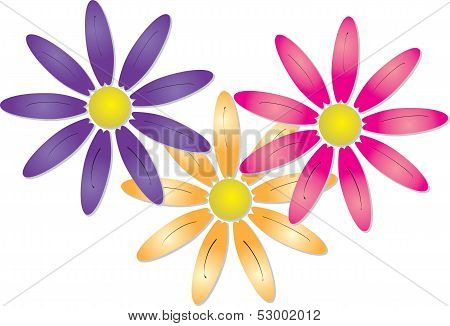 Three pretty spring flowers