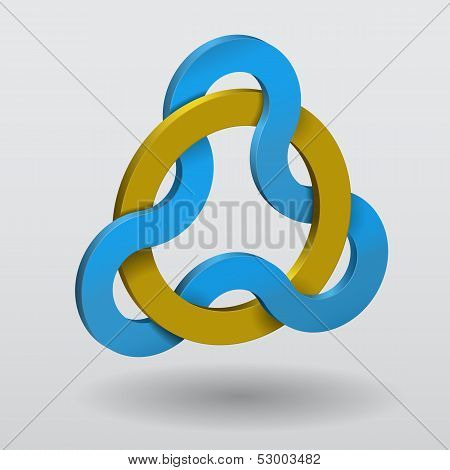Celtic Knot Triquetra With Magic Ring.
