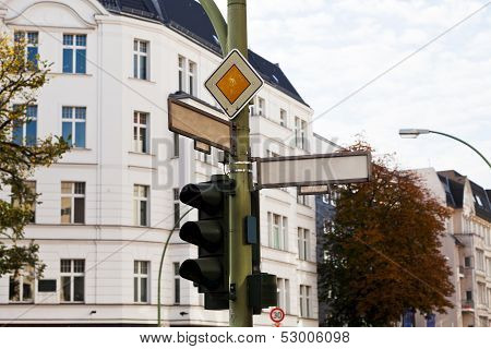Traffic Light And Crossroad