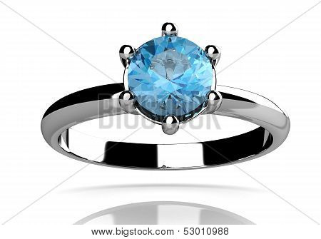 Aquamarine Ring (high Resolution 3D Image)