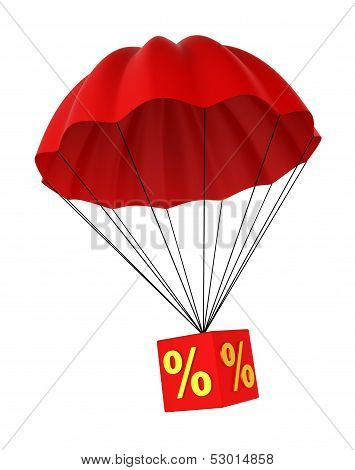 Parachute With A Discount Sign