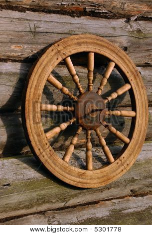 Spinning Wheel And Its Shadow