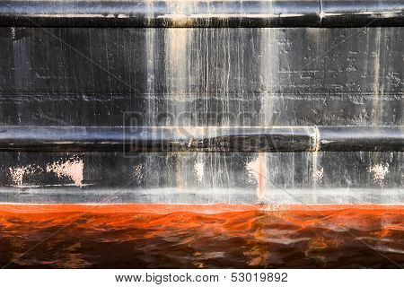 Cargo Ship Black Hull Texture With Red Waterline