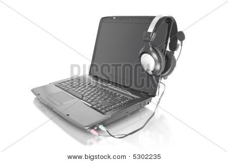 Music Laptop With Stereo Headset