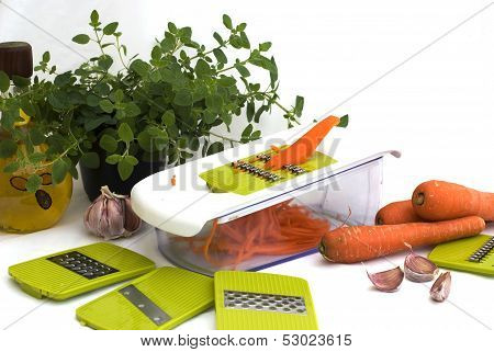 Preparing Carrot Salad