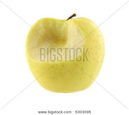 Golden Delicious Apple With One Bite