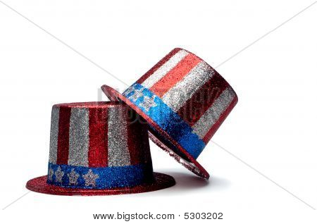 A Pair Of Sparkling 4Th Of July Celebration Hats