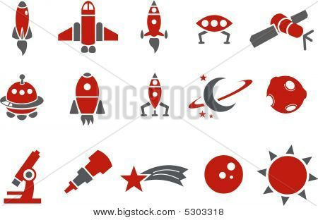 Space icon set