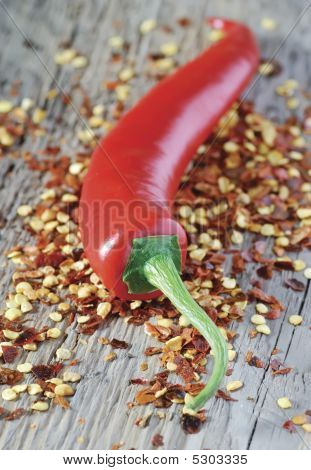 Chilli Pepper And Seeds