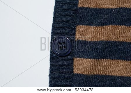 Striped fabric texture button