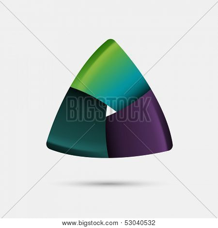 Triangular abstract shape, eps10 vector