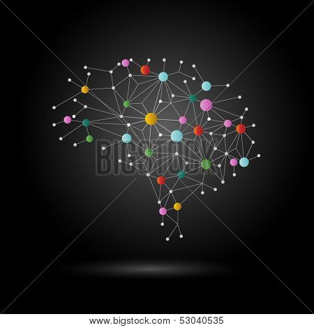 Creative concept of the brain, eps10 vector