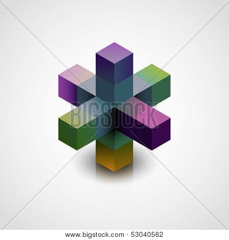 Abstract 3d shape, eps10 vector