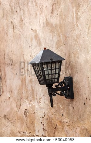 Lamp On  Concrete Wall