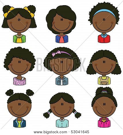African American Girls Avatar