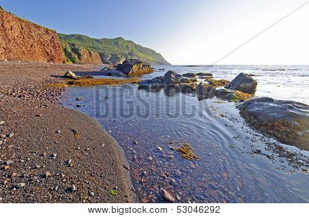 Tide Pools In Evening Light