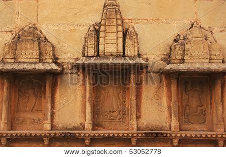 Decorative Carvings On The Wall, Raniji Ki Baori, Bundi, Rajasthan