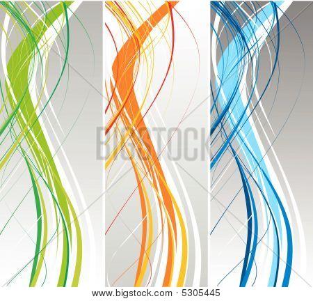 Abstract Lines Circles