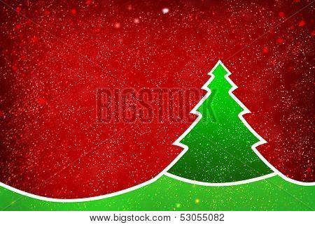 Christmas tree on decorative background