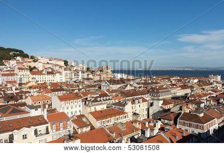 Alfama District Of Lisbon Portugal