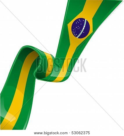Brazil Ribbon Flag
