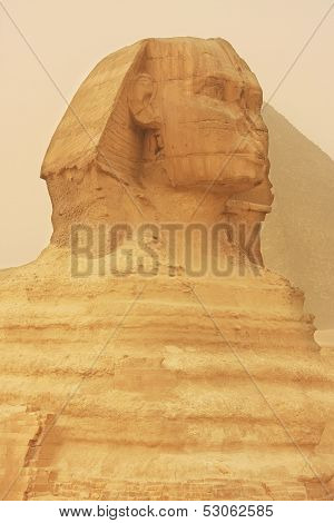 The Sphinx In A Sand Storm, Cairo, Egypt