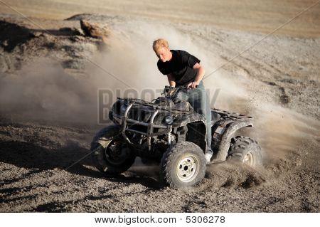 Teenager Riding Quad - Four Wheeler