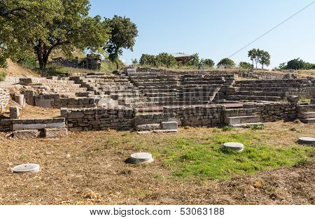 Ruins Of Old Amphitheater In Troy