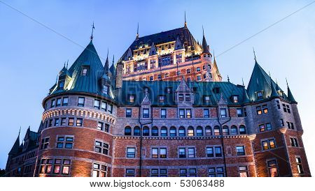 Xxxl Panoramic Image Of The Chateau Frontenac In Quebec