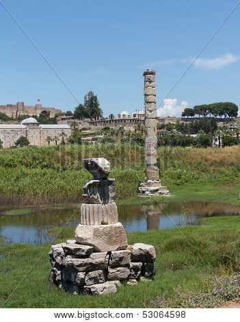 Ancient Ruins Of Temple Of Artemis
