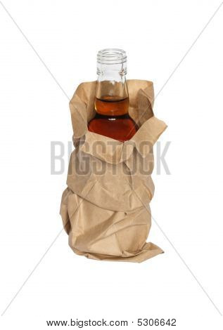 Paper Bag With Bottle