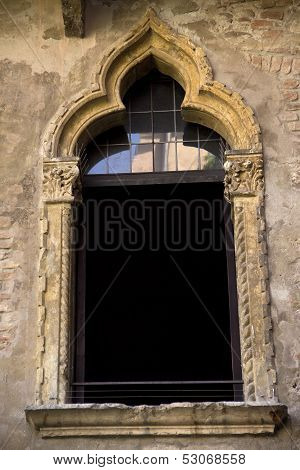 The Window At The House Of Juliet In Verona