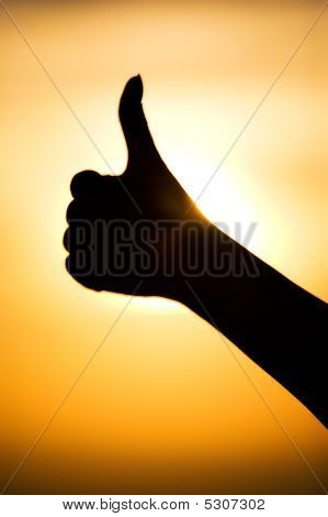 Excellent Hand Sign Silhouette